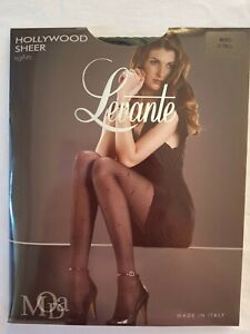 Tights - Levante Hollywood Sheer Nero  X-Tall Ladies Womens Pantyhose Stockings