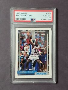 1992 Topps Shaquille Oneal Rookie RC Shaq O'neal #362 Draft Pick PSA 6