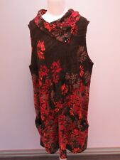 C-015 NEW TS 14+ Virtuelle Plus Size Top Long tunic/dress size M sleeveless