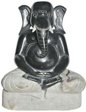 "JAI God Ganesha In Meditating Statue 30"" Hard Granite Crafted Hindu Figure 184KG"