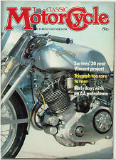 THE CLASSIC MOTORCYCLE OCT/NOV 1981 #3 - BSA A65 ROAD TEST