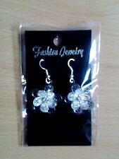 flower earrings Triple layer