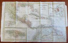 Central America Mexico Caribbean Sea Cuba Jamaica Bahamas 1844 Copley map