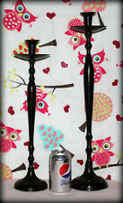 """Tall Heavy Duty Set of 2 Brown Metal Candle Holder's 21"""" & 17 3/4"""" Tall *GUC*"""
