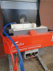 Flamefast DS320 mains Gas Brazing Hearth/Forge with torch and bricks.