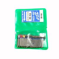 100pcs Dental Diamond Burs Millers Tooth Drill Jewelers 1.6mm FO-32 Direct Deal