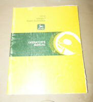John Deere 1010 Integral Field Cultivator Operator's Manual P/N OM-N159504