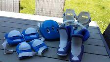 Lot patins à roulettes, rollers avec protections et casque taille 34 à 37 Oxybul