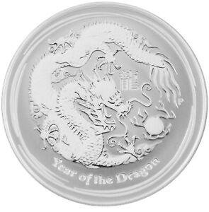 1/2 oz 0,5 Lunar II Drache 2012 Silbermünze Unze Australien