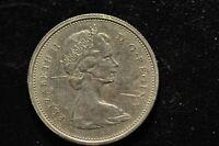 1974 CANADA ELIZABETH II DEL GRATIA REGINA 25 CENTS COIN!   CC440XXX
