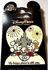 """Disney Mickey And Minnie Mouse """" My Happy Place Is With You """" Pin"""