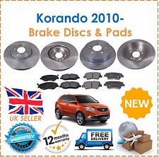 For Ssangyong Korando 2.0 EXDi 4x4 2010- Front & Rear Brake Discs + Pads Set New