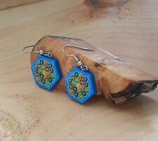 Settlers of Catan Board Earrings | Handcrafted
