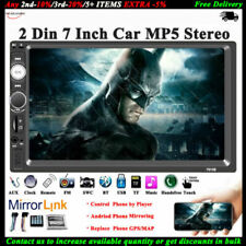 7'' 2 DIN Bluetooth Stereo MP4/MP5 AUX/FM/TF HD Touch Mirror Car Radio Head Unit