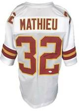 Tyrann Mathieu Autographed Pro Style White Jersey JSA Authenticated