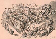 Billhead, Brown Brothers Moulding Co, Elmira, New York NY 1910