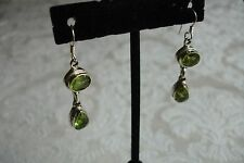 Peridot Sterling Silver Bohemian Dangle Drop JTYDS Earrings Made in India NEW