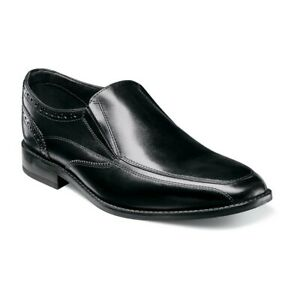 Mens Florsheim Shoes Size 8 Black Leather Slip-On Casual Dress Shoes NEW