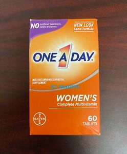 One A Day Women's Complete Multivitamin Immune Heart Bone Skin Health 60ct 07/22