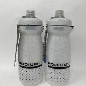2 - CamelBak Podium 21oz Water Bottle White Speckle - NEW FREE SHIPPING