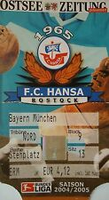 TICKET 2004/05 FC Hansa Rostock - Bayern München