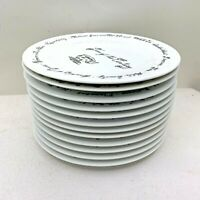 "Pottery Barn Decade Millennium plates Salad Dessert 8 1/4"" Birthday complete set"