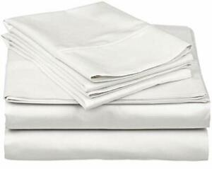 True Luxury 1000-Thread-Count 100% Egyptian Cotton Bed Sheets 4-Pc Queen Whit...