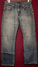 "LEVI'S 514 SLIM STRAIGHT MEN'S sz 32 X 30 BLUE JEANS meas 30"" X 28.5""  (#390-10)"