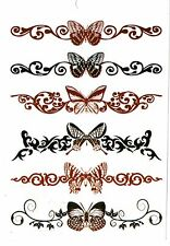 Temporay Körper Schmuck Tattoo Einmal Tatoo Tätowierung Bodyart Schmetterling