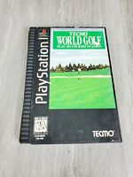 Tecmo World Golf PS1 LONGBOX COMPLETE CIB Sony PlayStation 1 Long Box *READ*
