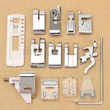 Set of 14 Snap on Presser Feet fits Low Shank Husqvarna Viking Sewing Tool Kit