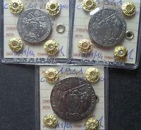 LOTTO 3 MONETE CITTA' DEL VATICANO PIO XII 20 50 CENT 2 LIRE 1941 FDC SUBALPINA