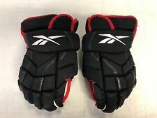 """Reebok 10K Pro Stock Hockey Gloves 14"""" BlackHawks 4043"""