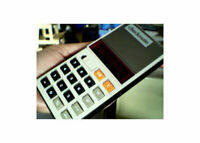 Vintage Red LED Calculator Litronix 1101P Checkmate