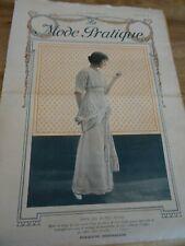ANCIENNE REVUE MODE PRATIQUE  AVEC PLANCHE PATRONS + PATRONS DECOUPES 1912 N°38