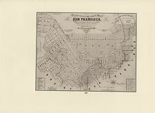 "1976 Vintage CALIFORNIA ""CORRECT COMPLETE MAP SAN FRANCISCO 1853"" Lithograph 109"