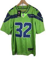 NWT NIKE On Field Men's S NFL Seattle Seahawks #32 Chris Carson Football Jersey