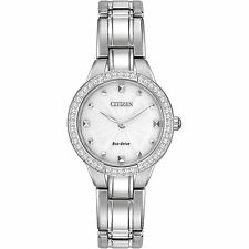 NEW Citizen Ladies Eco-Drive Silver Watch EX1360-50A