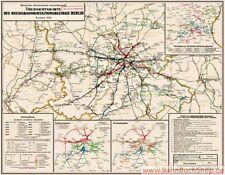 Poster: Eisenbahnkarte der Reichsbahndirektion Berlin 1933 Deutsche Reichsbahn