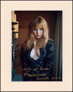 "Madeline Smith 007 James Bond Orig Hand Signed 10x8"" Mounted Autograph Photo COA"