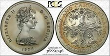 1976 Turks & Caicos Islands 20 Crowns PCGS MS68 Toned Coin Only 1 graded Higher!
