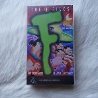 THE F FILES VHS VIdeo Tape FLINSTONE Cartoons ANIMATIONS Childrens COMEDY Humor