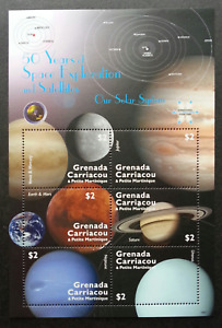 Grenada 50 Years Of Space Exploration Solar System 2009 Astronomy (ms) MNH *rare