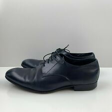 Georgio Armani Smooth Calfskin Derby Lace Up Oxford Shoes Made In Italy Mens 8.5