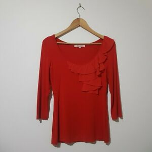 Review Size 10 Terracotta Orange Top Blouse