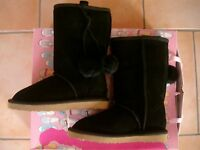 (Y46) Gefütterte Nolita Pocket Girls Winterstiefel Wildleder Schuhe Boots gr.28