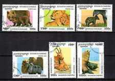 Cambodge 1996 Animaux (41) Yvert n° 1358 à 1363 oblitéré used