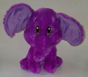 "Kellytoy Purple Elephant Lovey 11"" Plush Stuffed Animal Toy SOFT 2018 Brown Eyes"