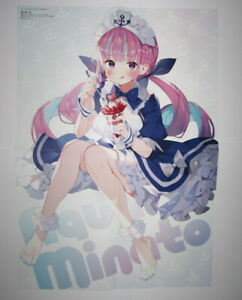 Hololive Minato Aqua Mr. Osomatsu Double Sided Poster Animedia September 2020