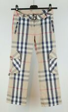 Girls Authentic Burberry Nova Check Trousers Age 8